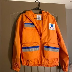 Forever 21 USPS Orange Jacket